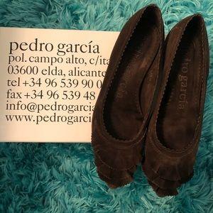 🌟👀 Pedro Garcia flats in chocolate brown - 35.5